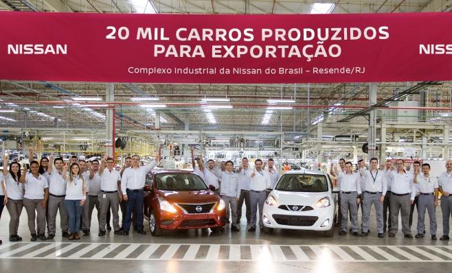 Imagem ilustrativa da notícia: Nissan: 20 mil veículos exportados a partir do RJ