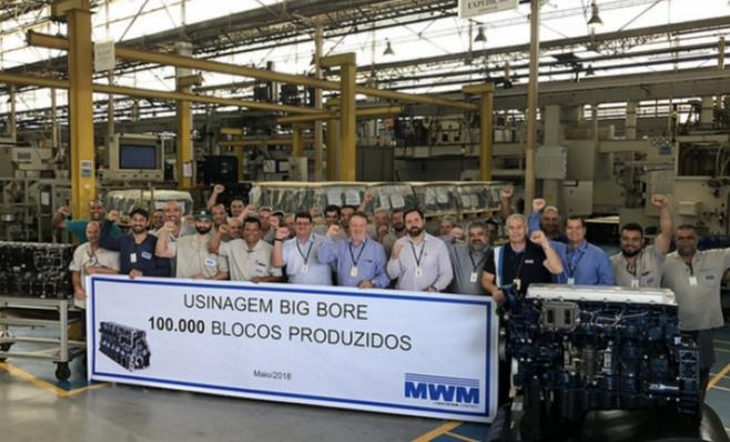 Imagem ilustrativa da notícia: MWM usinou 100 mil blocos em quase onze anos