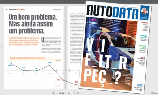 Imagem ilustrativa da notícia: Revista AutoData: já está no ar a nova edição.