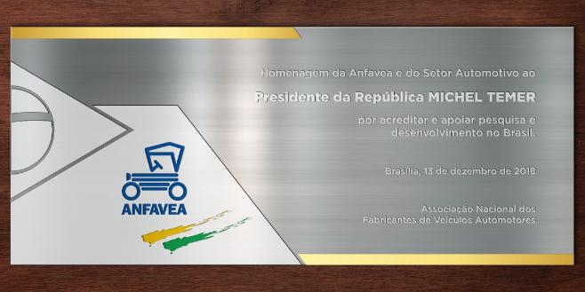 Imagem ilustrativa da notícia: Anfavea homenageia presidente da República