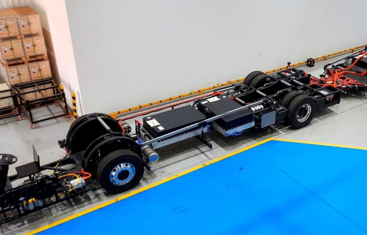 Imagem ilustrativa da notícia: BYD produz chassis articulados elétricos em Campinas