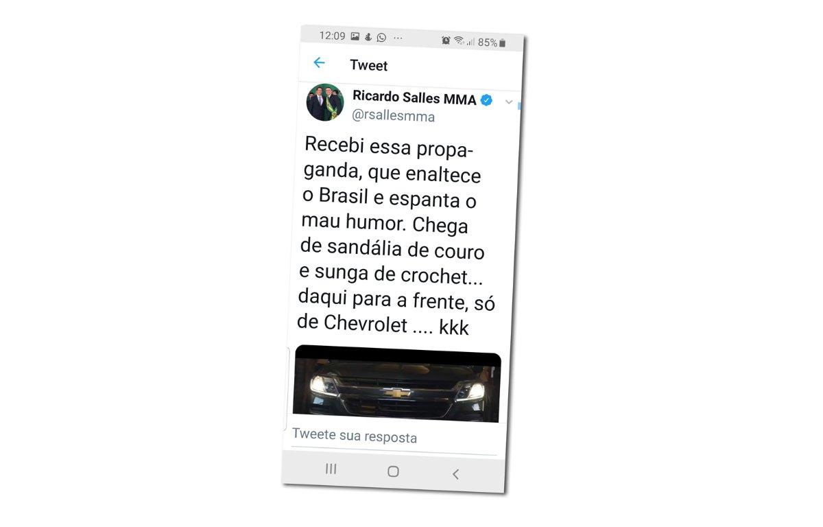 Imagem ilustrativa da notícia: Deboche de ministro fura campanha da S10