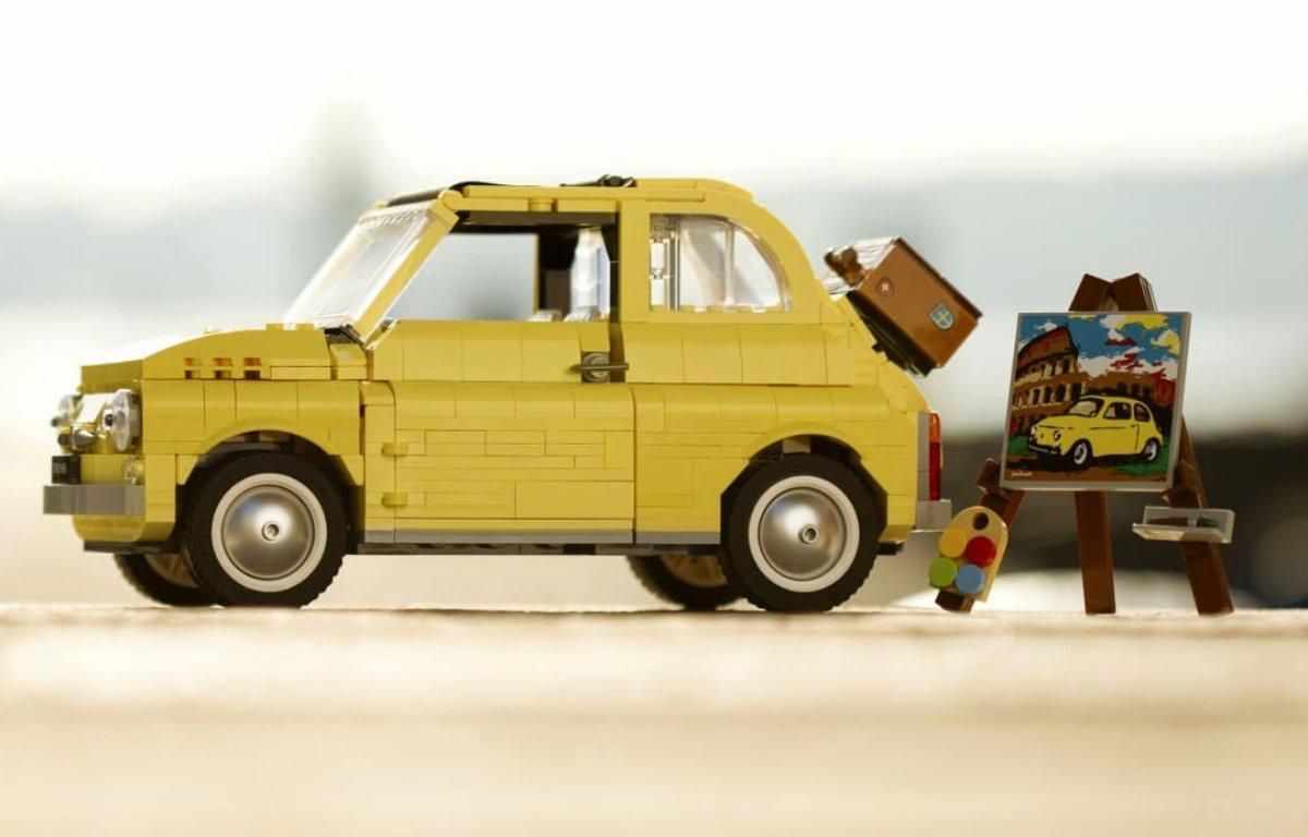 Imagem ilustrativa da notícia: Fiat e Lego apresentam miniatura do 500F