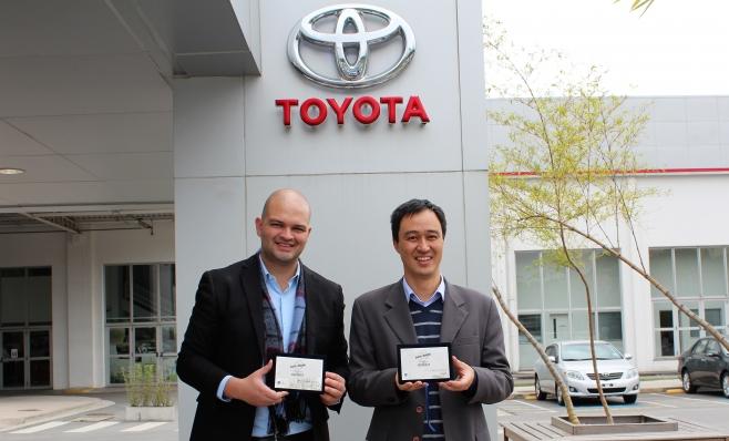 Imagem ilustrativa da notícia: Toyota recebe placas do Prêmio AutoData