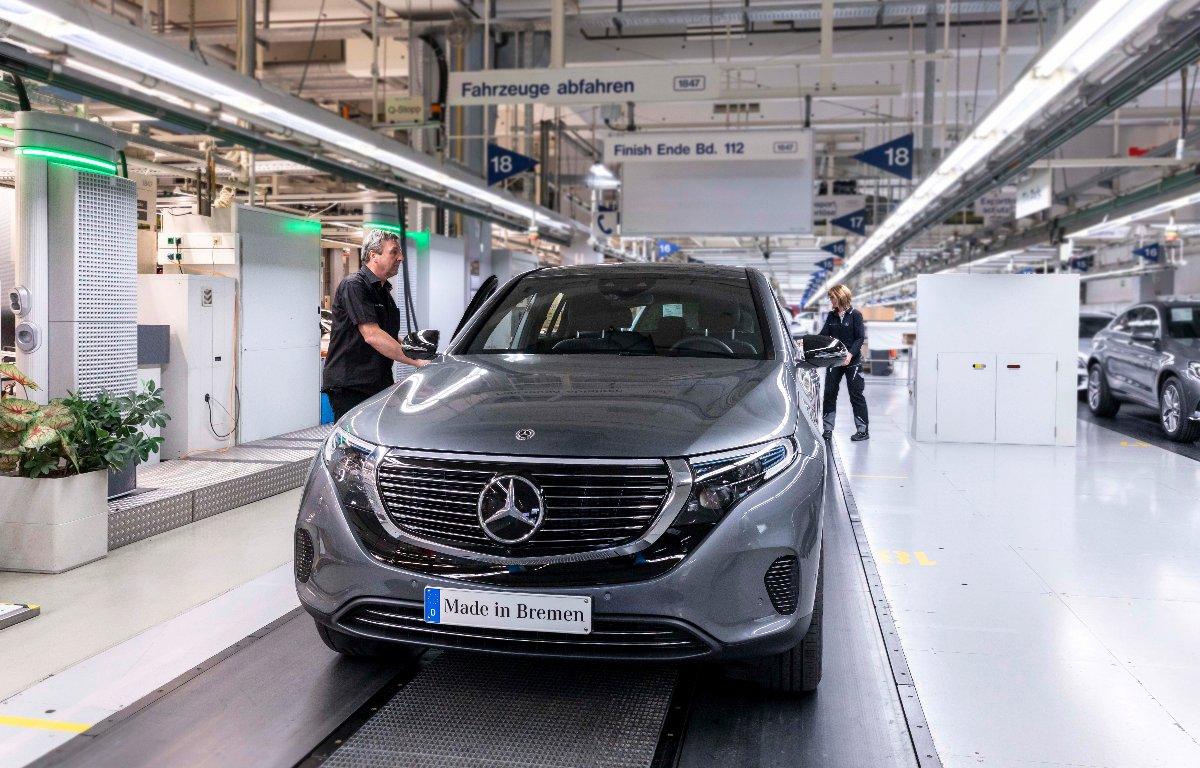 Imagem ilustrativa da notícia: Mercedes-Benz inicia produção do elétrico EQC