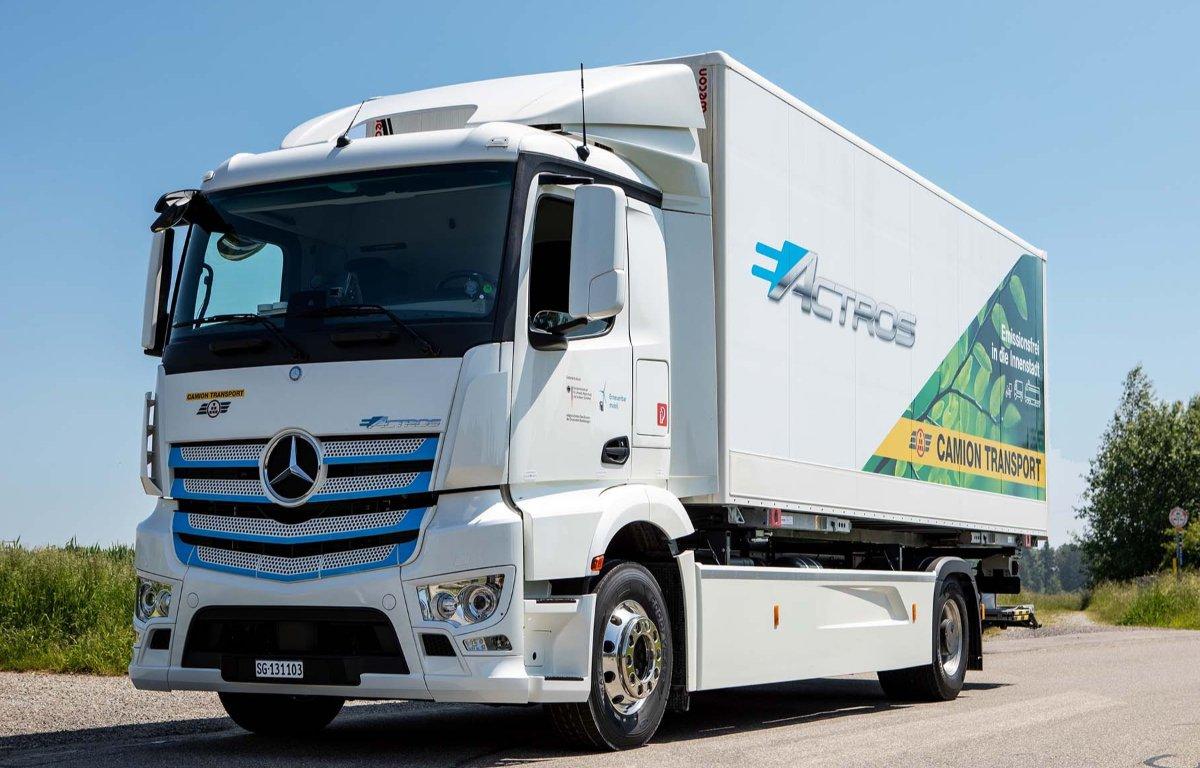 Imagem ilustrativa da notícia: Mercedes-Benz testa elétrico pesado na Suiça