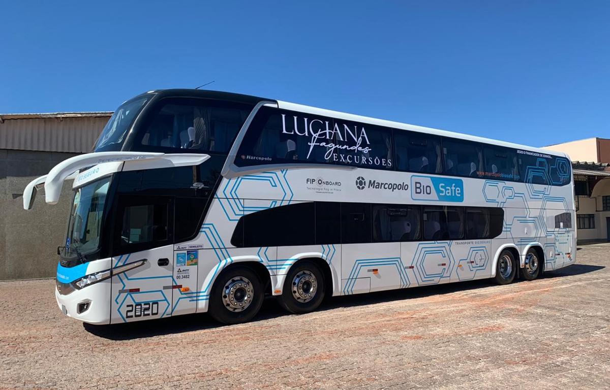 Imagem ilustrativa da notícia: Marcopolo vende ônibus de dois andares com BioSafe