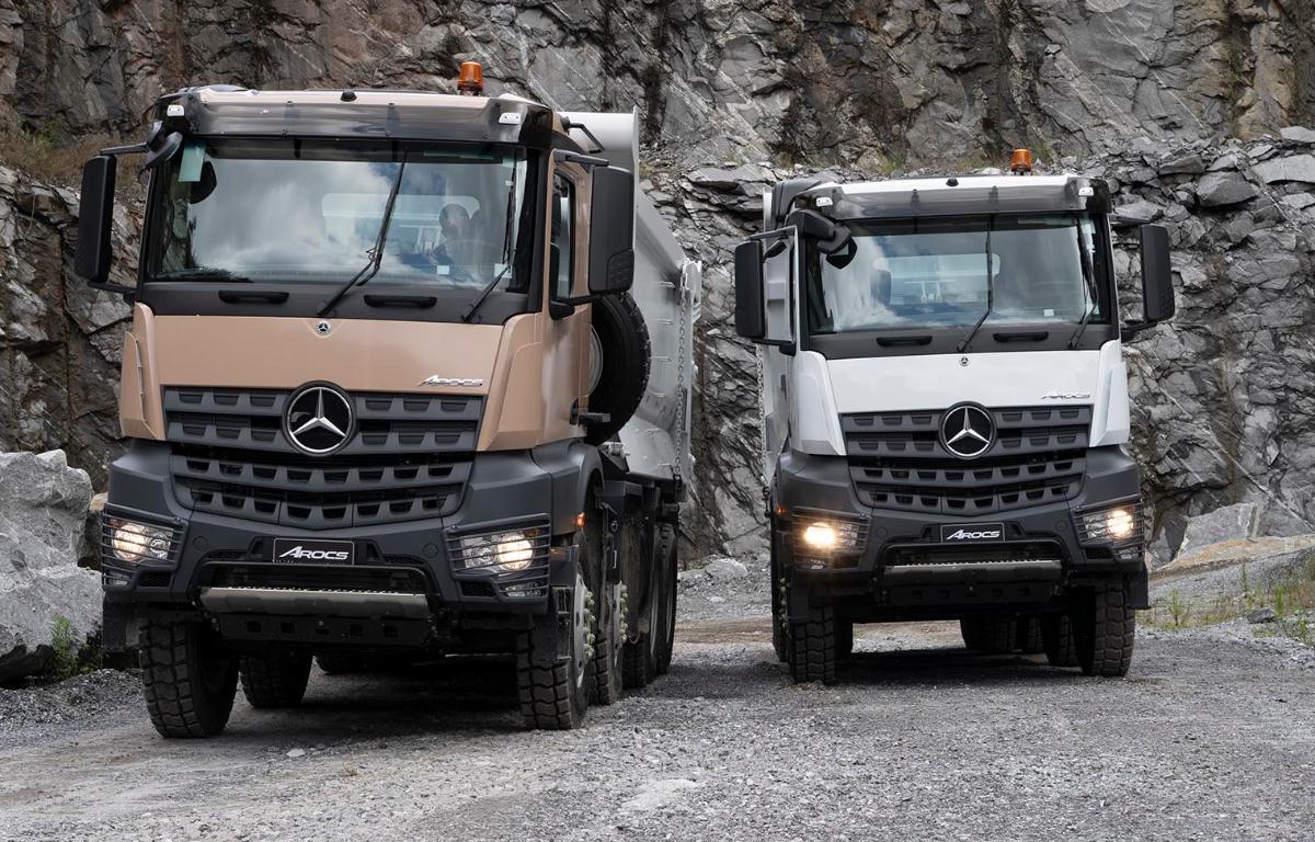 Imagem ilustrativa da notícia: Mercedes-Benz ataca mercado fora de estrada com extrapesado Arocs