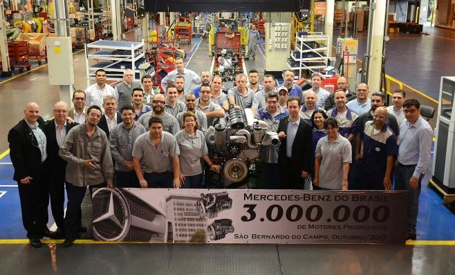 Imagem ilustrativa da notícia: 3 milhões de motores M-B feitos no Brasil