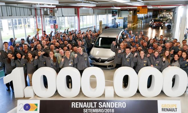 Imagem ilustrativa da notícia: Renault produz um milhão de Sandero no Brasil