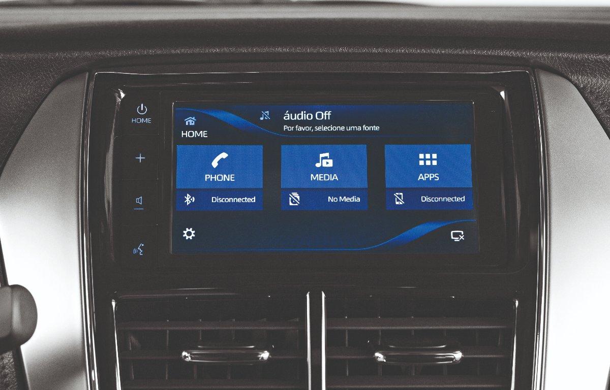Imagem ilustrativa da notícia: Toyota Yaris ganha espelhamento com smartphone