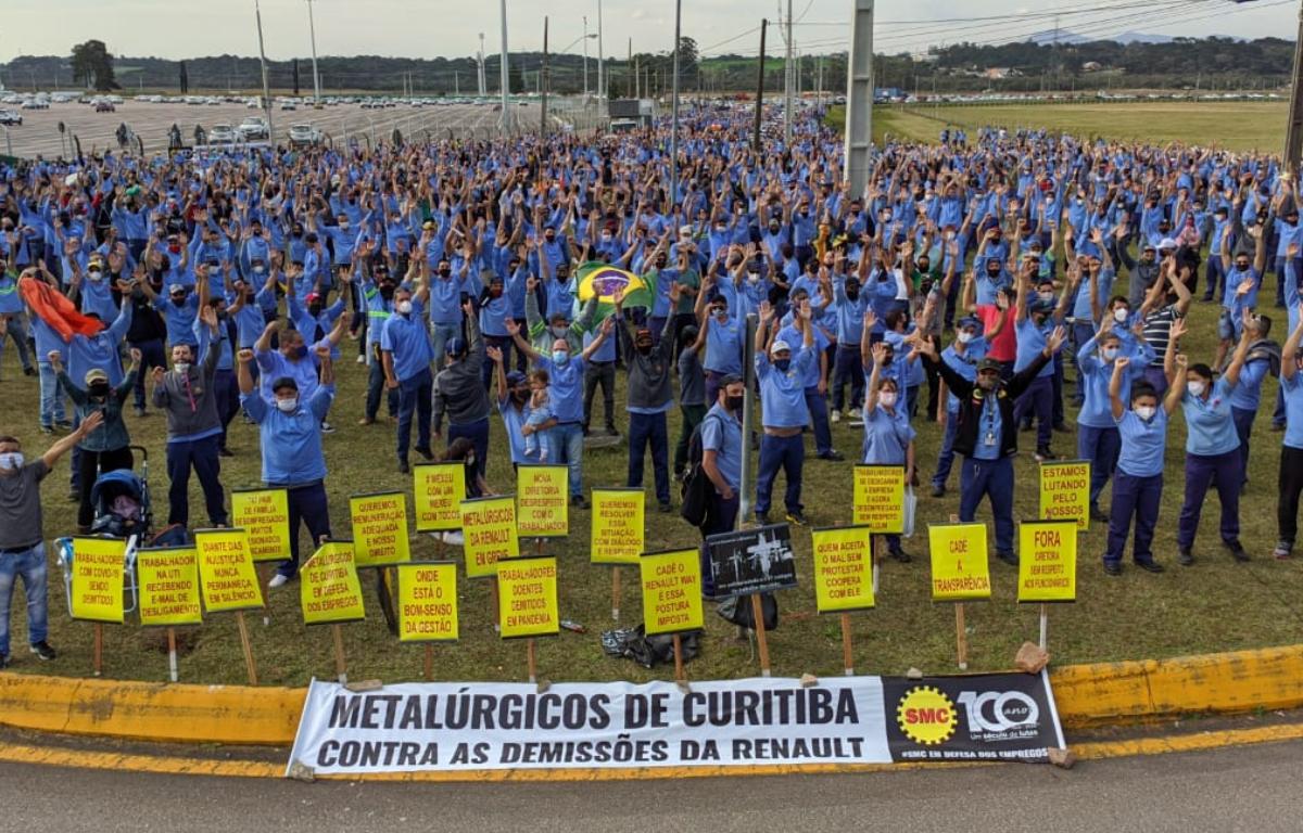 Imagem ilustrativa da notícia: Trabalhadores mantêm greve na Renault em São José dos Pinhais