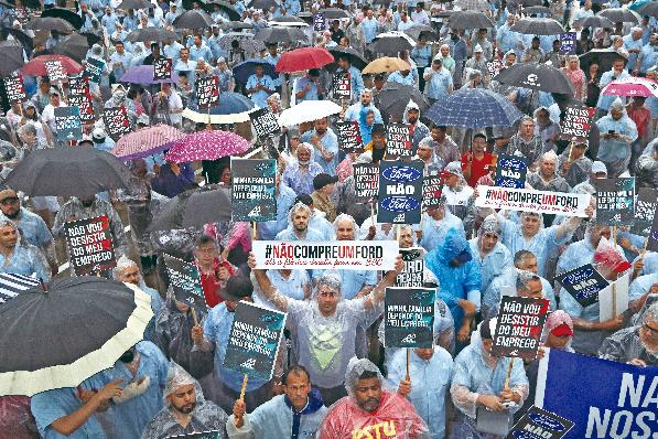 Imagem ilustrativa da notícia: Trabalhadores protestam em São Bernardo