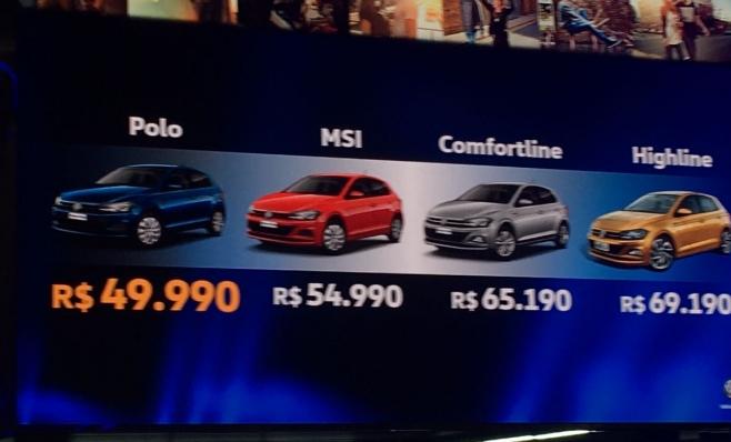 Imagem ilustrativa da notícia: Preço do Novo Polo vai de R$ 50 mil a R$ 70 mil