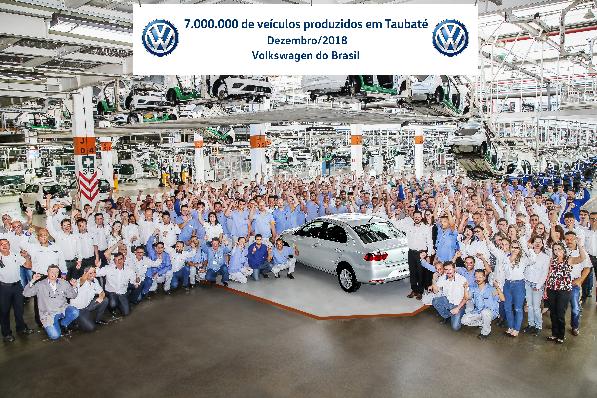Imagem ilustrativa da notícia: VW: 7 milhões de veículos produzidos em Taubaté.