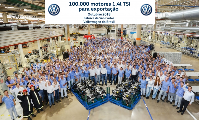 Imagem ilustrativa da notícia: VW São Carlos: 100 mil motores exportados.