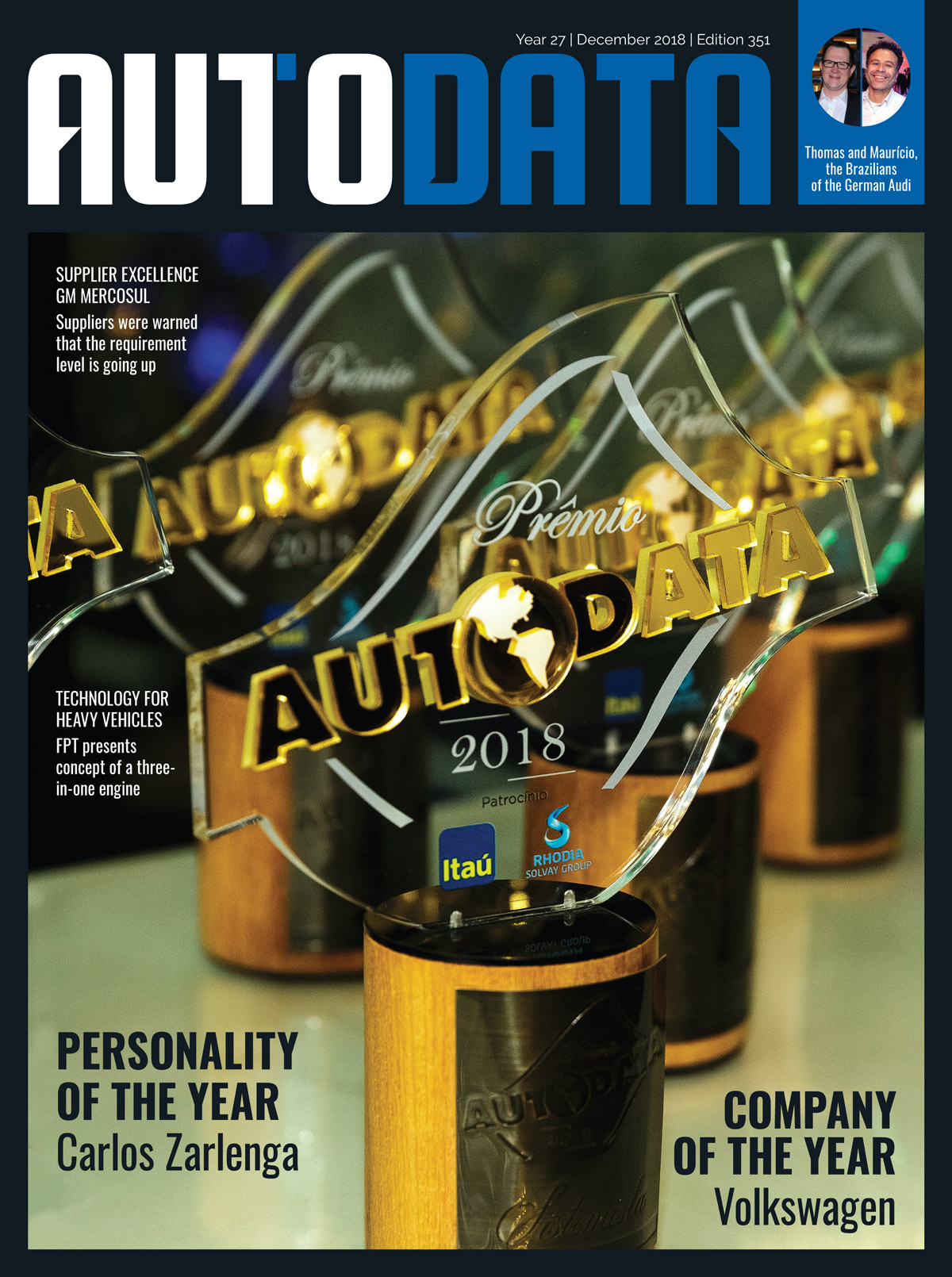 Capa revista AutoData Magazine 351